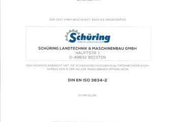Zertifikat ISO 3834-2
